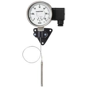 thermomètre à dilatation de gaz à capillaire / analogique / pour montage en surface / en acier inoxydable