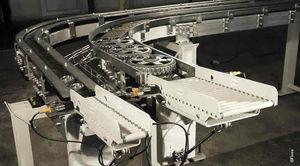 convoyeur à rouleaux / à chaînes / pour palettes / modulaire