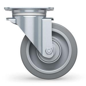roulette pivotante / à platine / à roulement à billes / monolithique