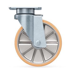 roulette pivotante / à platine / pour charges lourdes / pour transport