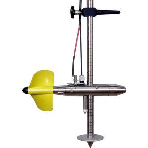 courantomètre à moulinet / pour eau / en acier inoxydable / résistant à la corrosion