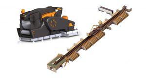 ligne de broyeur à rotor / horizontale / pour le bois