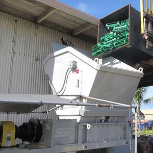 déchiqueteur de déchets solides et en vrac / pour déchets électroniques / à 2 arbres / à couple élevé