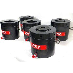 vérin fort tonnage / hydraulique / simple effet à rappel par gravité / rond