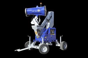 canon brumisateur pour abattement de poussières / pour le contrôle d'odeur / mobile / avec bras articulé