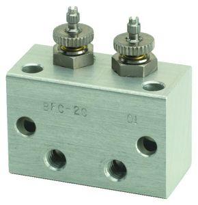 manifold 2 voies / en acier inoxydable