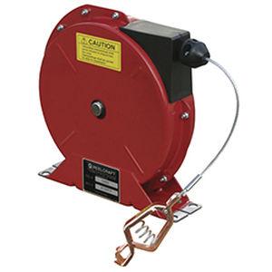 enrouleur de mise à la terre / à rappel automatique / sur étrier / résistant à la corrosion
