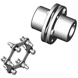 accouplement rigide en torsion / à disque / sans jeu / à bride