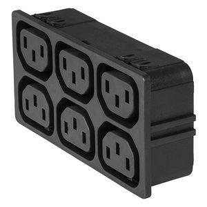 connecteur électrique d'alimentation électrique / type C13 / IEC / compact
