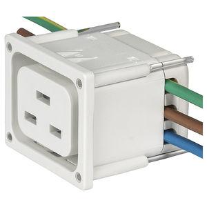 connecteur d'alimentation électrique / encliquetable / en thermoplastique / IEC
