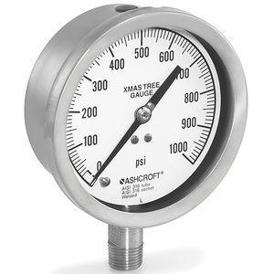 manomètre analogique / à tube de Bourdon / pour gaz / pour huile