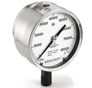 manomètre à cadran / à tube de Bourdon à liquide / de process / pour gaz
