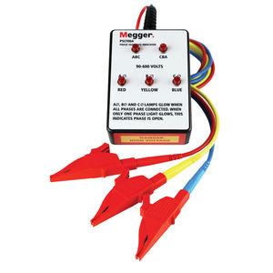 indicateur de séquence de phase / à LED / en construction légère