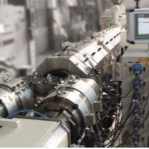 ligne d'extrusion de tubes / de granulation / pour PVC / avec refroidissement à eau