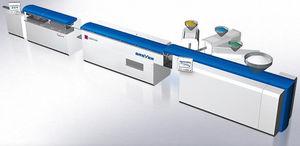 ligne d'extrusion pour la production de tube flexible d'emballage / de tubes / pour PP / multicouche