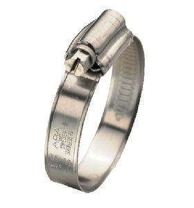 collier de serrage en acier inoxydable / à vis / à bande pleine