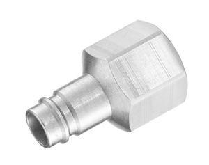 adaptateur hydraulique / fileté / femelle-cannelé / en acier