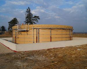 réservoir de stockage d'hydrocarbure / de transport / à carburant / en tissu