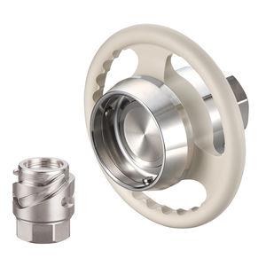 raccord rapide / droit / hydraulique / en acier inoxydable