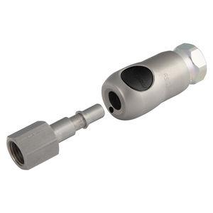 raccord rapide / droit / pour air comprimé / en acier inoxydable