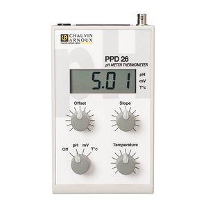 pH mètre portable / de laboratoire / numérique / avec thermomètre