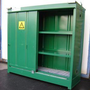 armoire de stockage / au sol / à double porte / à étagères