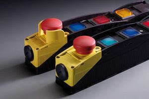 boîte à boutons en thermoplastique / à 4 boutons / à témoin LED