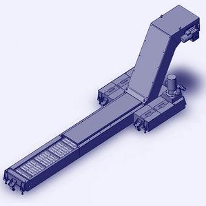 convoyeur à bande métallique / à bande / pour l'industrie automobile / pour l'industrie métallurgique