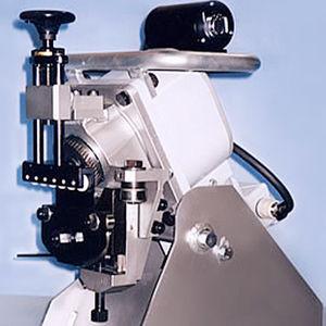 chanfreineuse électrique / mobile / pour plaque métallique / avec alimentation automatique