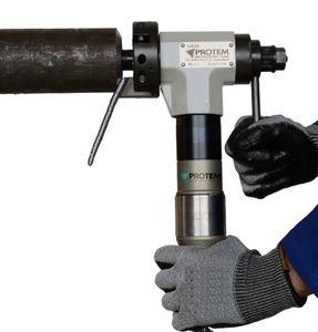 chanfreineuse pour tubes / pneumatique / portable / de préparation de soudage