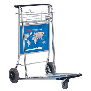 chariot de transport / en métal / à plate-forme / à plate-forme grillagée