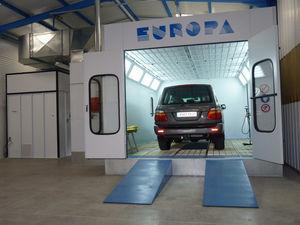 cabine de peinture fermée / pour véhicules / à filtre