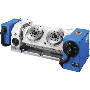 table rotative entraînée par moteur / inclinable / pour centre d'usinage / multibroche