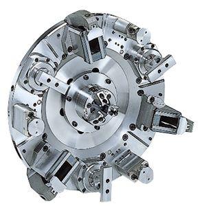 mandrin automatique / 6 mors / de roue / à bride de serrage pivotante