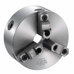 mandrin de tournage à serrage manuel / 3 mors / avec passage au centre / en acier