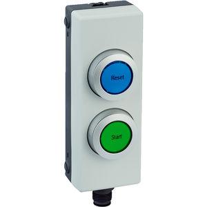boutons poussoirs de réarmement / lumineux / IP65