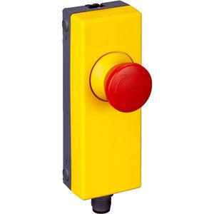 boutons poussoirs coup de poing / d'arrêt d'urgence / en plastique / de réarmement