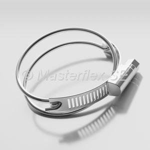 collier de serrage en acier inoxydable / à vis sans fin / fil / double