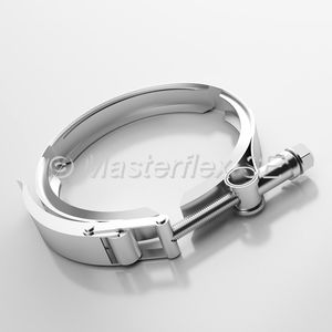 collier de serrage en acier inoxydable / à boulon / à verrouillage rapide