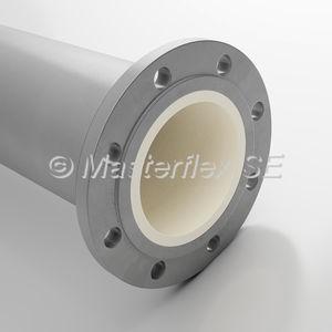 tuyau rigide pour air comprimé / pour convoyage / en acier / à bride