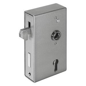 serrure à clé / à pêne / pour porte coulissante / en zinc