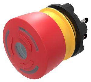 interrupteur d'arrêt d'urgence / coup de poing / unipolaire / lumineux (LED)