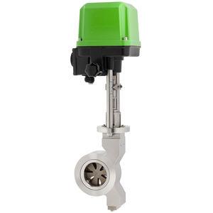 vanne à disque / à commande électrique / de régulation / pour gaz