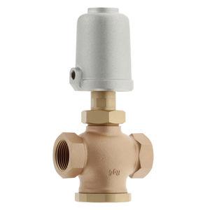 vanne à commande pneumatique / pour gaz / en bronze / 3 voies