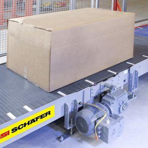 convoyeur à bande / pour caisses / horizontal / modulaire