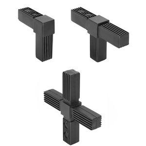 connecteur de tube carré / en acier / en polyamide / en acier zingué