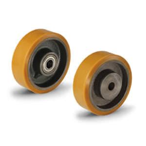 roue à bandage / en polyuréthane / pour charges lourdes