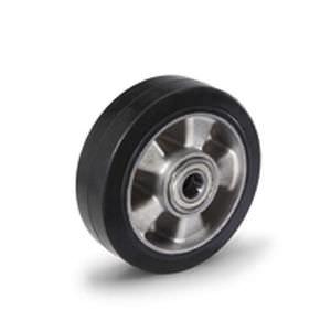 roue à bandage / en caoutchouc / en aluminium / pour chariot