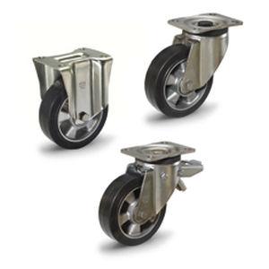 roue à bandage / en caoutchouc / en aluminium / de manutention