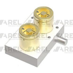 serrure à pêne / à clé / pour tableau électrique / en laiton